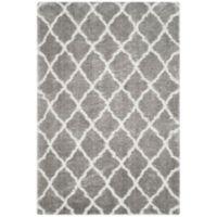 Safavieh Indie 6-Foot 7-Inch x 9-Foot 2-Inch Shag Area Rug in Grey/Ivory