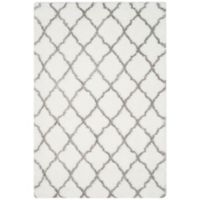 Safavieh Indie 6-Foot 7-Inch x 9-Foot 2-Inch Shag Area Rug in Ivory/Grey