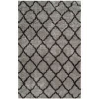 Safavieh Indie 6-Foot 7-Inch x 9-Foot 2-Inch Shag Area Rug in Grey/Dark Grey