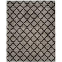 Safavieh Indie 8-Foot x 10-Foot Shag Area Rug in Grey/Dark Grey
