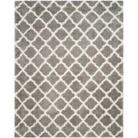 Safavieh Indie 8-Foot x 10-Foot Shag Area Rug in Grey/Ivory