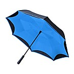 BetterBrella™ Umbrella with Reverse Open/Close Technology in Blue
