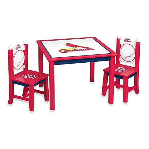 Major League Baseball Cardinals Table And Chairs Set Bed