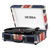 Innovative Technology Victrola 3-Speed Bluetooth Record Player in Blue/Red