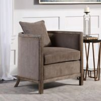 Uttermost Viaggio Chenille Accent Chair in Grey