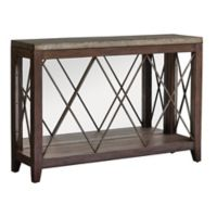 Uttermost Delancey Console Table in Iron/Oak