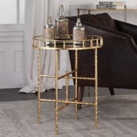 Uttermost Tilly Iron Accent Table in Gold Leaf