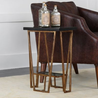 Incroyable Uttermost Agnes Metal Accent Table In Gold Leaf