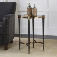 Uttermost Thora Accent Table in Brushed Black