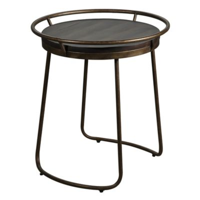 Uttermost Rayen Accent Table In Copper