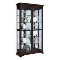 Pulaski Sable Double Door Curio in Brown