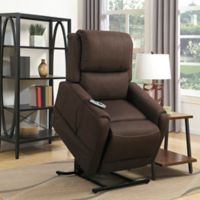 Pulaski Heat and Massaging Lift Chair in Brown