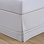 LinenWeave Hemstitch King Bed Skirt in White