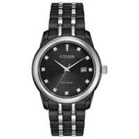 Citizen Eco-Drive Men's 39mm Corso Diamond-Accented Watch in Black Ion-Plated Stainless Steel
