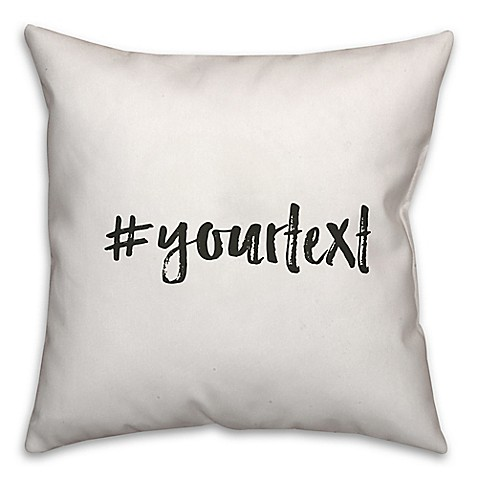 image of Designs Direct Brush Stroke Hashtag Square Throw Pillow