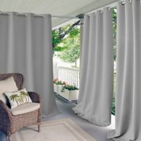 Elrene Connor 95-Inch Indoor/Outdoor Grommet Top Window Curtain Panel in Grey