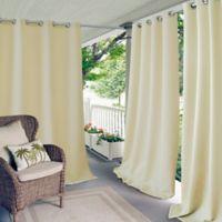 Elrene Connor 84-Inch Indoor/Outdoor Grommet Top Window Curtain Panel in Ivory