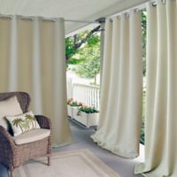 Elrene Connor 108-Inch Indoor/Outdoor Grommet Top Window Curtain Panel in Taupe