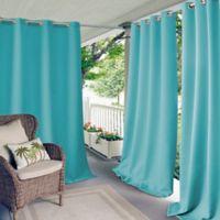 Elrene Connor 95-Inch Indoor/Outdoor Grommet Top Window Curtain Panel in Turquoise