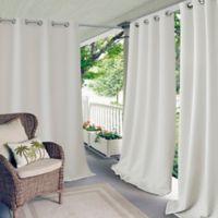 Elrene Connor 95-Inch Indoor/Outdoor Grommet Top Window Curtain Panel in White