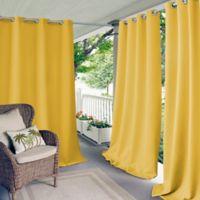 Elrene Connor 84-Inch Indoor/Outdoor Grommet Top Window Curtain Panel in Yellow