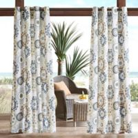 Madison Park Laguna Printed Medallion 3M Scotchgard 84-Inch Grommet Top Outdoor Curtain Panel