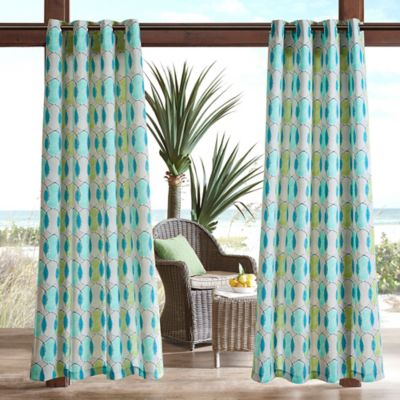Preferred Buy Blue Green Curtain Panel from Bed Bath & Beyond JY55