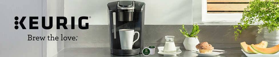 Keurig: Brew the Love. Image of Keurig Coffee maker.