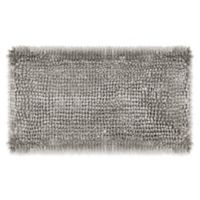 Laura Ashley Butter Chenille 20-Inch x 34-Inch Bath Rug in Light Grey