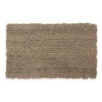 Laura Ashley Astor Striped 17-Inch x 24-Inch Bath Rug in Linen