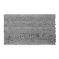 Laura Ashley Astor Striped 20-Inch x 34-Inch Bath Rug in Light Grey