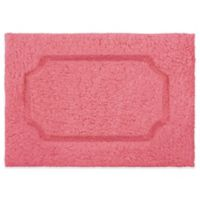 Blossom Race Track 17-Inch x 24-Inch Bath Rug in Coral
