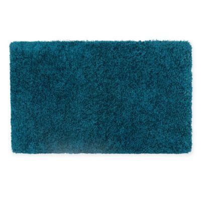 Claudia Plush Shag 27 Inch X 45 Inch Bath Rug In Teal