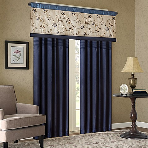 Madison Park Serene Embroidered Window Curtain Panel And