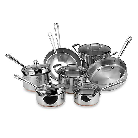 Emerilware Stainless Steel 14 Piece Cookware Set Bed