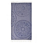 Linum Home Textiles Anatolian Pestemal Beach Towel in Blue
