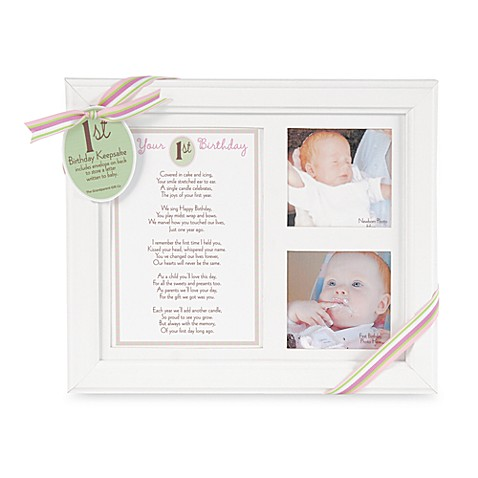 Your 1st Birthday Photo Frame in Pink