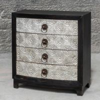 Uttermost Ramila Accent Chest in Black