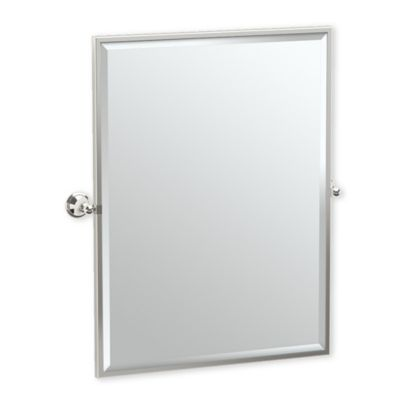 gatco laurel ave 25 inch x 2563 inch rectangular framed mirror in polished