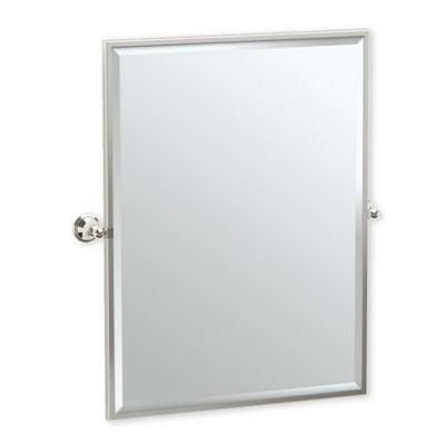 gatco laurel ave 25 inch x 2563 inch rectangular framed mirror in polished