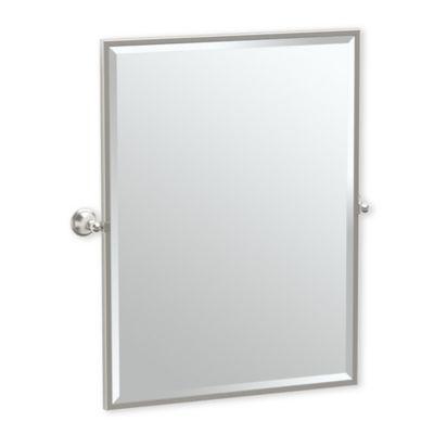 Gatco Laurel Ave 32 5 Inch X 28 25 Inch Rectangular Framed Mirror In Satin