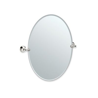 Gatco® Laurel Ave 26.5 Inch X 24 Inch Oval Frameless Mirror In Polished