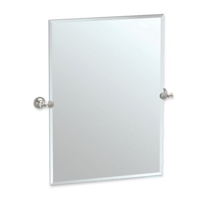 Image result for gatco brass satin nickel tavern rectangular frameless mirror
