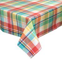 Captiva 70-Inch Square Plaid Tablecloth