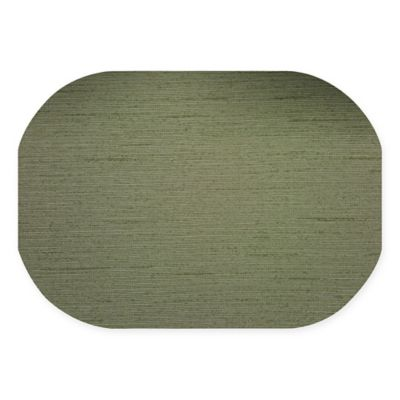 Superb Dasco Cabo Oval Laminated Placemat In Olive