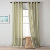 Tulum 84-Inch Grommet-Top Window Curtain Panel in Green