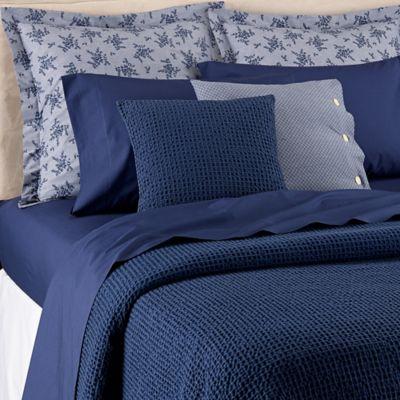 Bellora® Luxury Italian Made Kind Of Indigo Full/Queen Coverlet In Navy