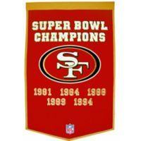 NFL San Francisco 49ers Dynasty Banner