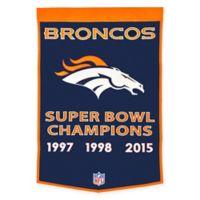 NFL Denver Broncos Champion Dynasty Banner