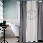 Vintage House Coquelicots Shower Curtain in Grey